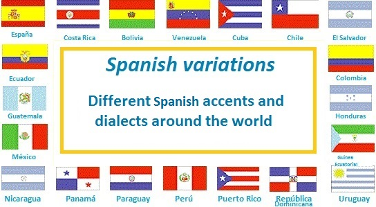 An image explaining how the Spanish language  accentuates all around the world