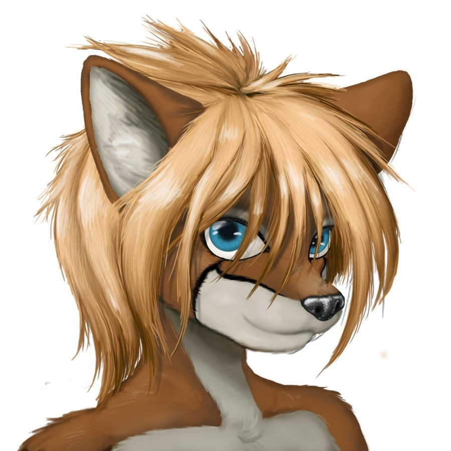 An+anthropomorphic+vixen+resembled+by+blond+hair