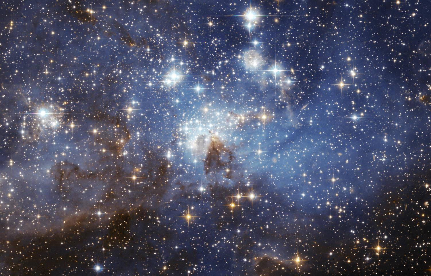An image of stardust in outer space