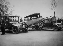 The first car accident occurred in Ohio in 1891