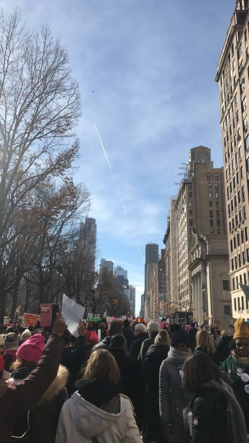 Protesters gather in New York City for the 2nd annual Women's March