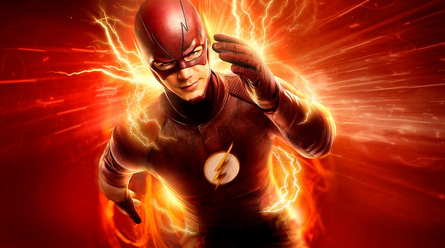 +Racing+at+full+speed%2C+The+Flash+is+saving+Central+City+from+all+the+villains.+