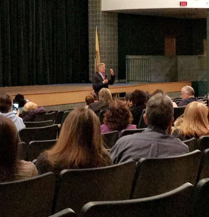 Congressman Pallone addresses questions from constituents.