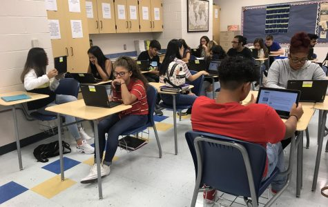 Students receive a new chromebook