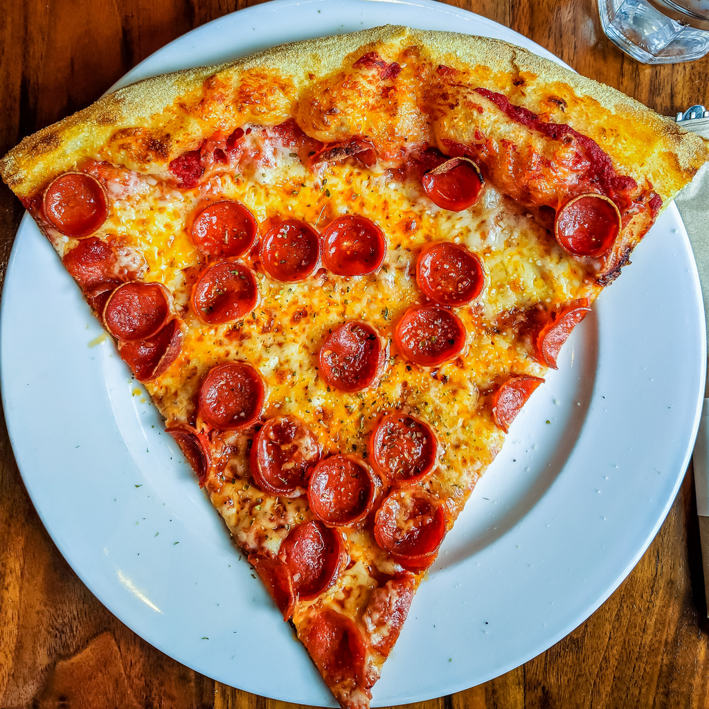 Pepperoni pizza is very popular in the United States.