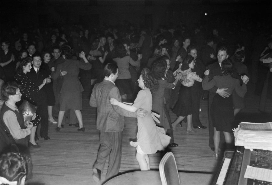 The hand jive was common in the 50's.
