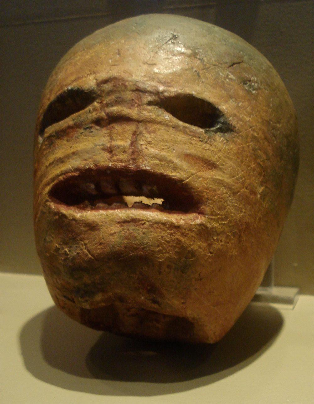 This is a traditional Irish jack-o'- lantern.