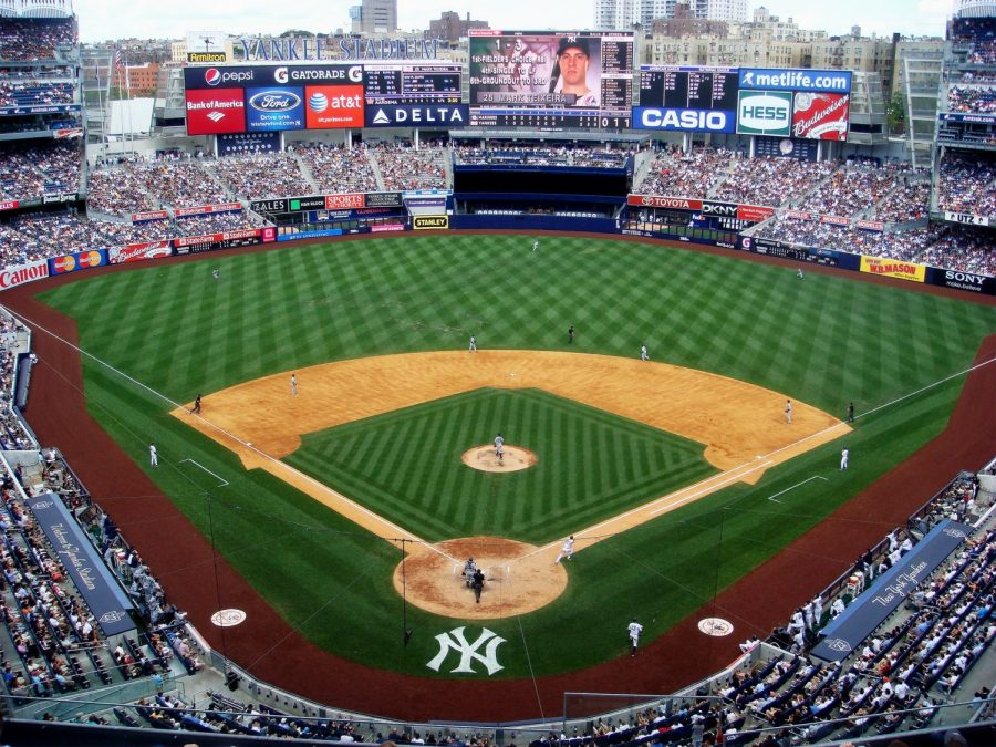 Yankee stadium during one the Yankees games this past season. Also the sight of tonight's wild card game.