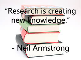 """Research is creating new knowledge."""