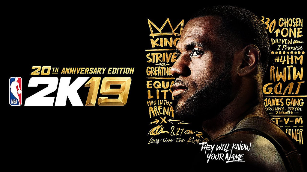 Seen here is the cover art for NBA 2K19, featuring NBA star LeBron James on the cover.