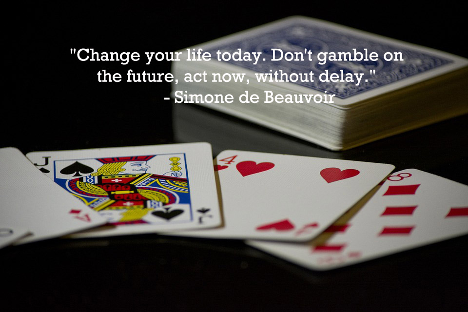 This is a quote by French writer, Simone de Beauvoir.
