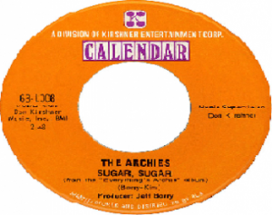 The Archies Sugar Sugar goes number one