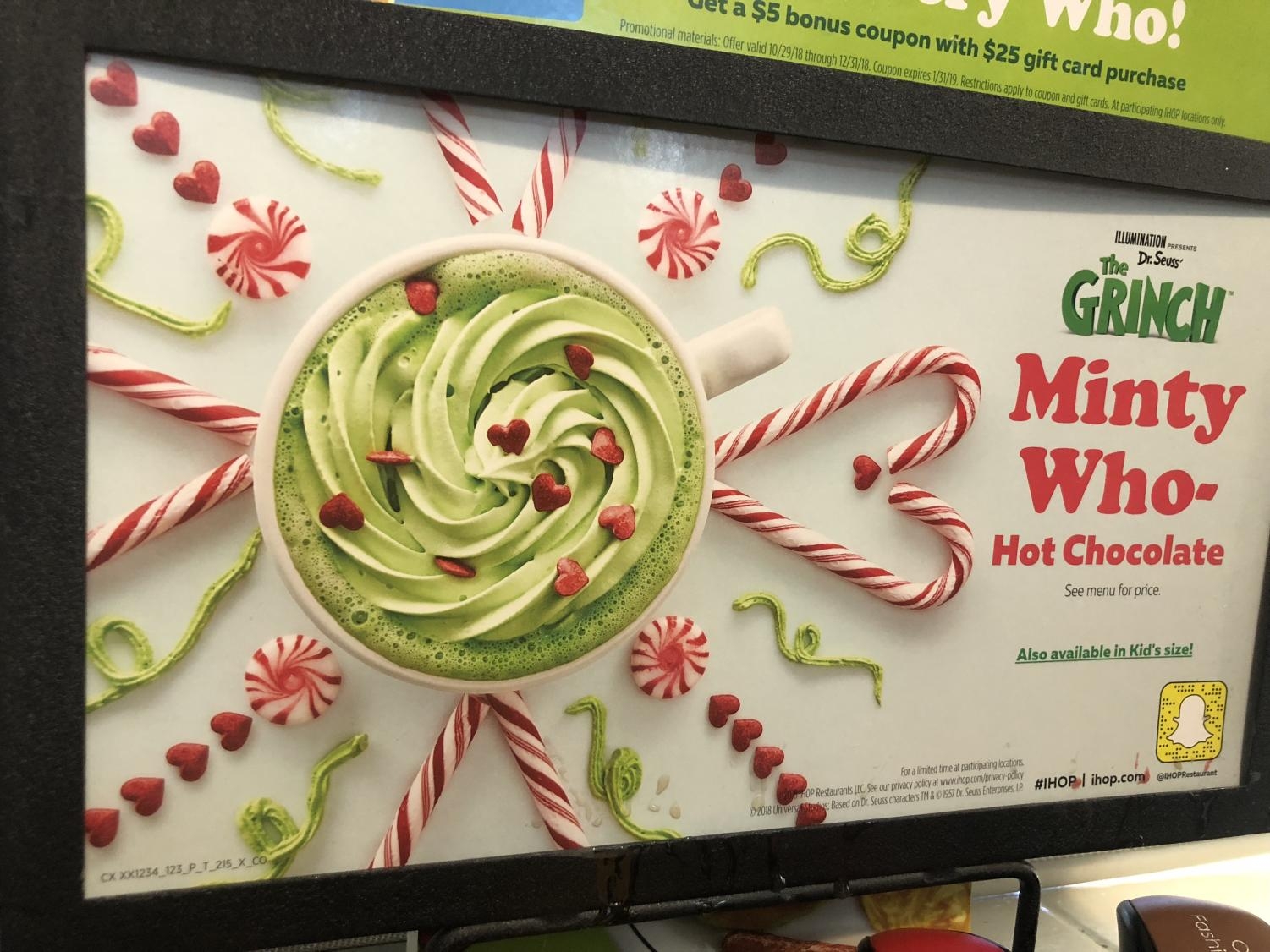 Ihop's minty hot chocolate ad