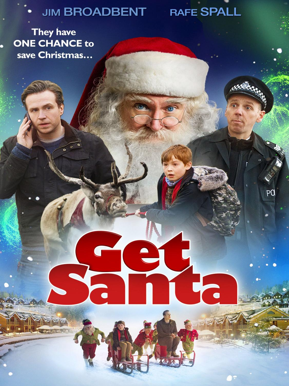 Seen here is the poster for the British Christmas film Get Santa.