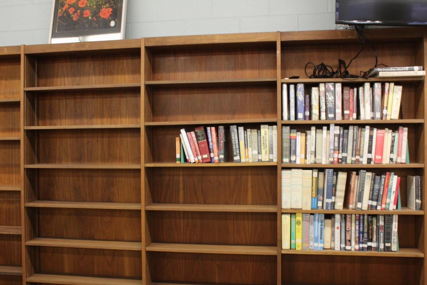Because of the library being turned into a media center, Colonia High no longer has many books in the media center.