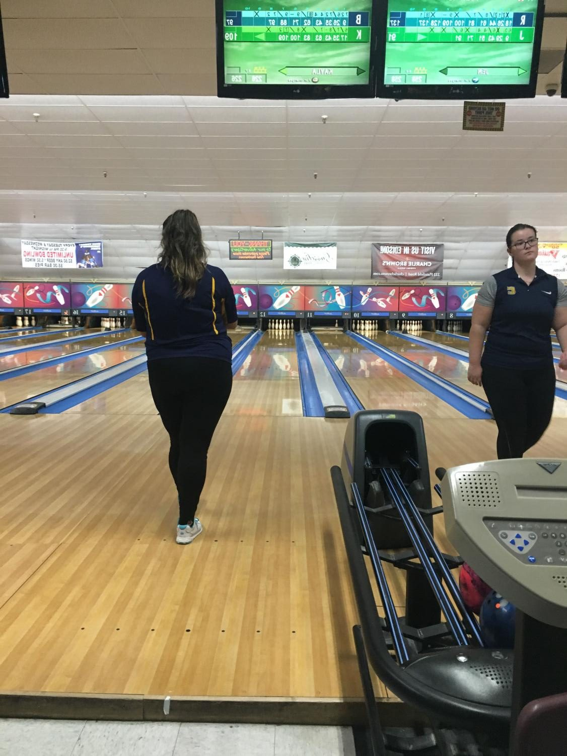 Focusing on bowling, Junior Kayla Soto is ready to get a strike.