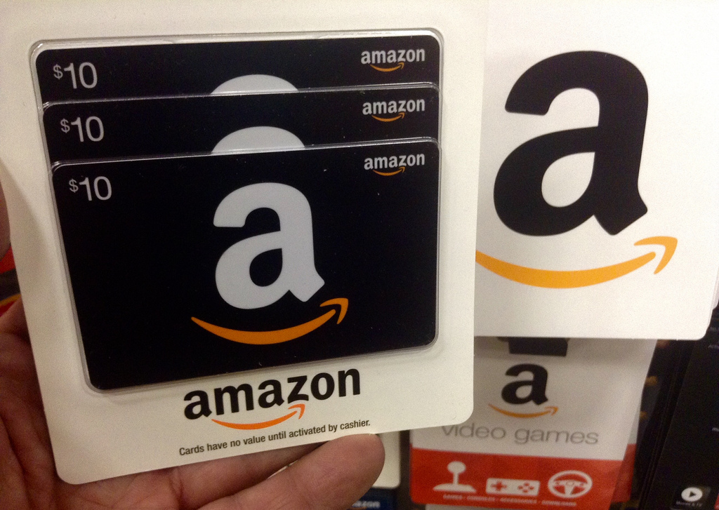 One of the most popular gift cards is an amazon gift card! You get to pick what you want online and it comes right to your door. Photo via Flickr under the Creative Common License