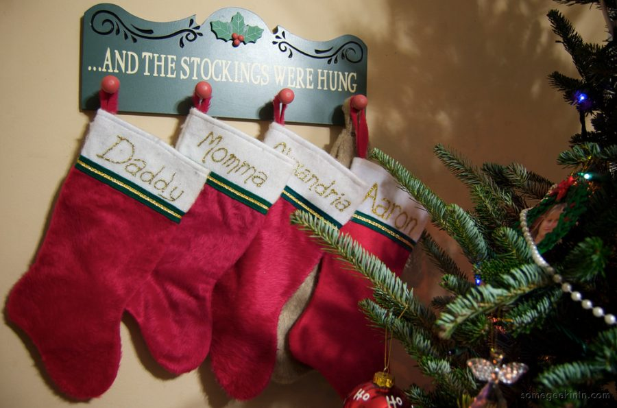 Stockings+lined+up+along+the+wall+ready+to+get+stuffed%21+Photo+via+Flickr+under+the+Creative+Common+License.