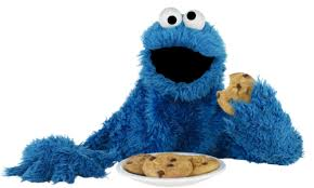 Cookie Monster is known for his love of cookies, but he advises children to also eat vegetables too.