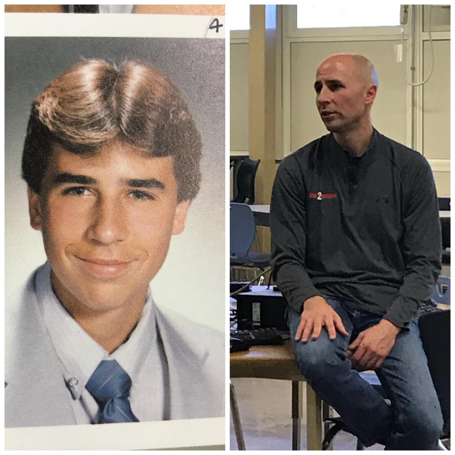 It has been a little over 30 years since Al Dukes walked the halls of CHS (left) to where he is now (right).