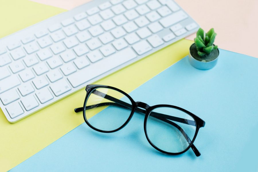 Myopia is a form of nearsightedness that can be helped with glasses.