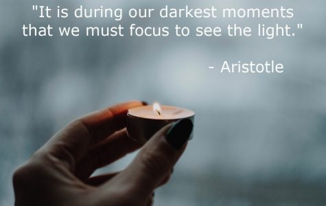 """It is during our darkest moments that we must focus to see the light."""