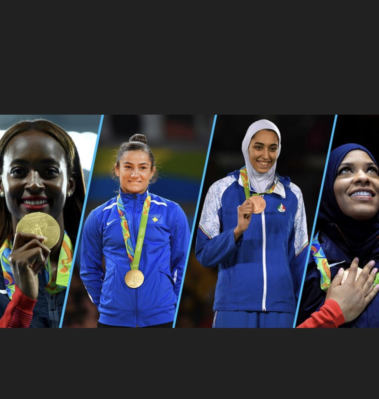 Due to their medal winning performances muslim olypians stand tall and proud