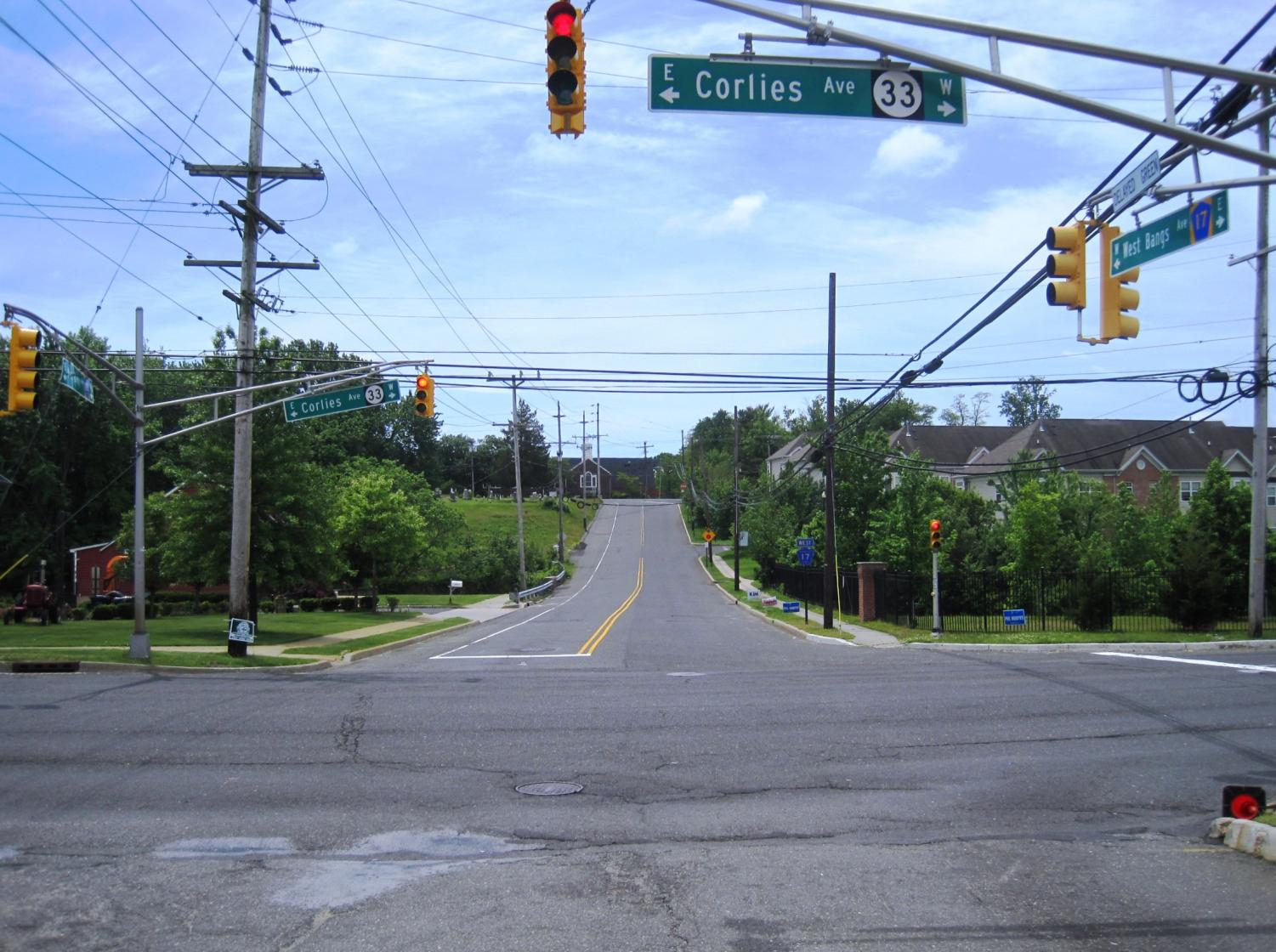 A main road in Monmouth County, New Jersey.