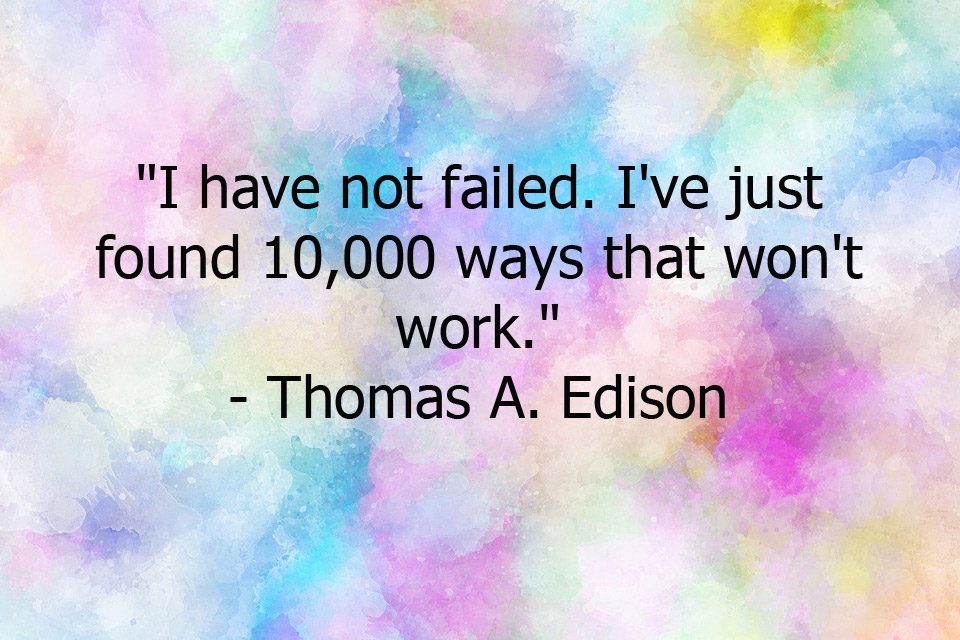 This is a quote by American Inventor, Thomas A. Edison.