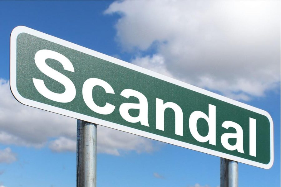 An action that offends moral conceptions or disgraces those associated with it; a scandal.