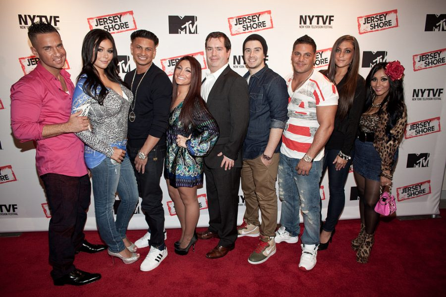 Seen here is the cast of the Jersey Shore TV show, giving a farewell before the conclusion of the final season.