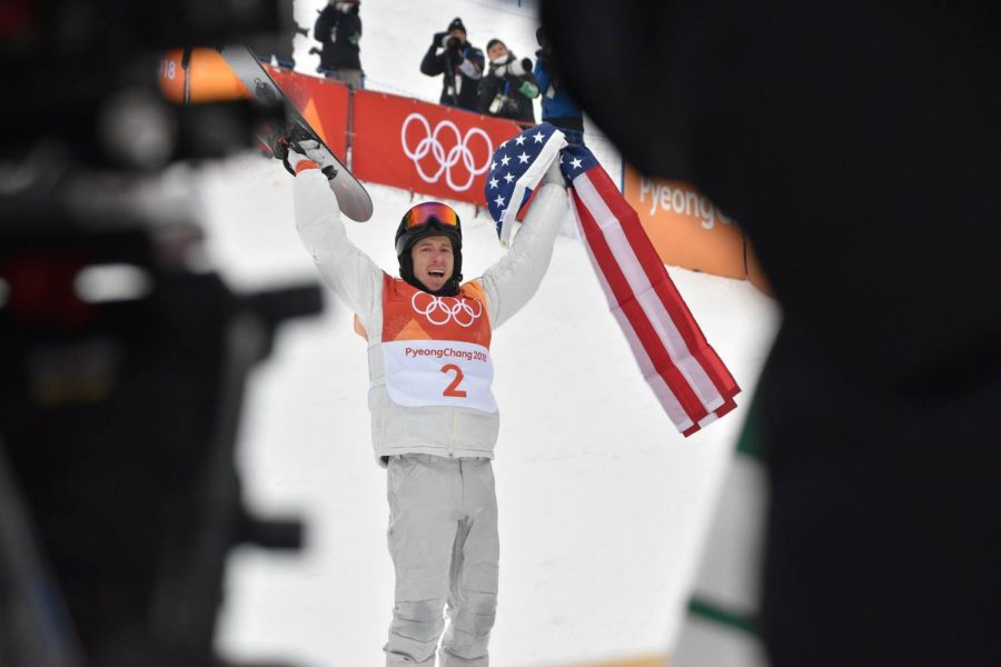 Seen here is three-time Olympic Gold Medalist Shaun White, who just recently won his last of them in February of 2018.