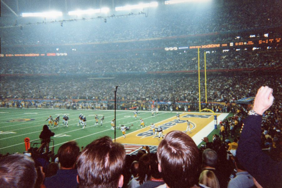 Seen here is a picture captured directly from Super Bowl XXXIV, right as Titans receiver Kevin Dyson is tackled one yard short of the end zone as time expired.