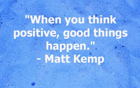 """When you think positive, good things happen."""