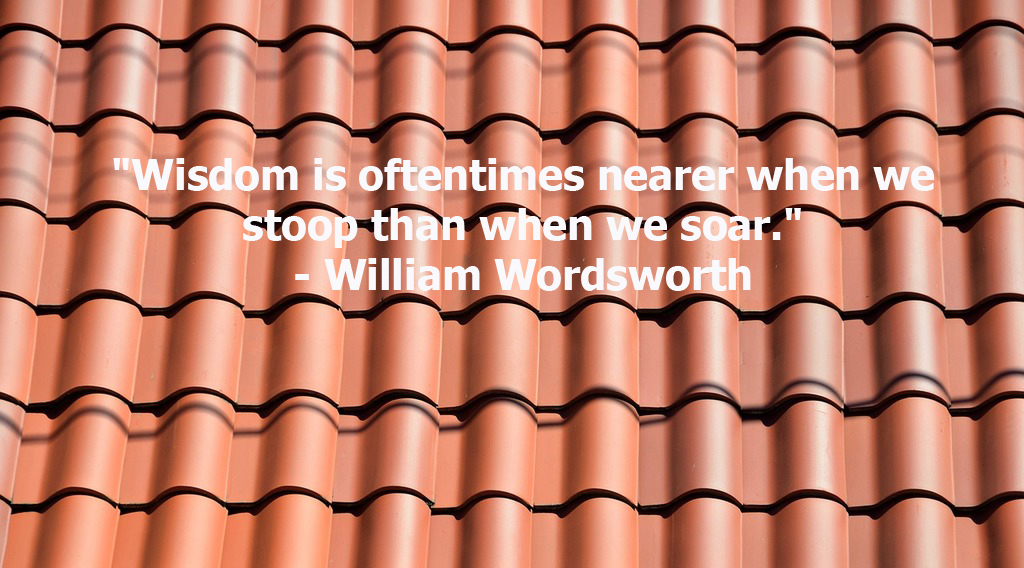 This is a quote by English Poet, William Wordsworth.