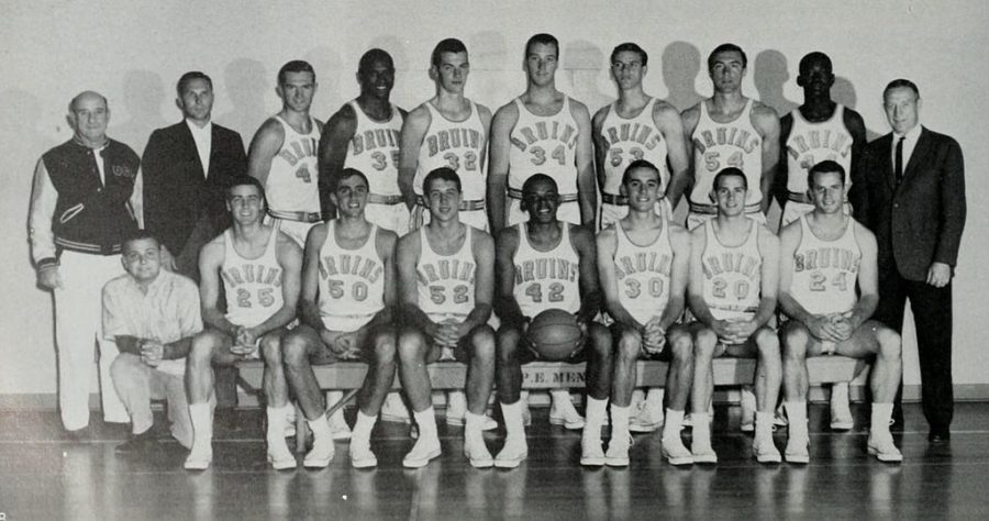 Seen here is the team photo for the UCLA Bruins in 1964, who would go on to win the NCAA Championship in that same season.
