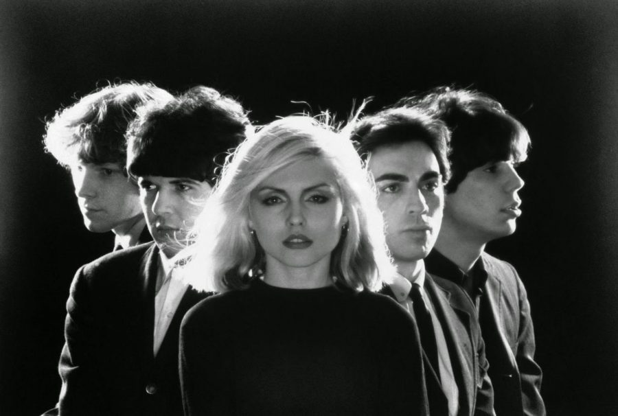 Posing for the photo, Blondie is proud of their new single Rapture.