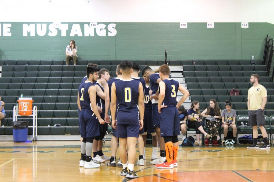 The 2018 Colonia High School's boys volleyball team.