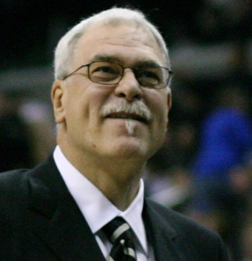 Seen here is legendary NBA coach Phil Jackson, who also had a very disappointing tenure as the President of the New York Knicks.
