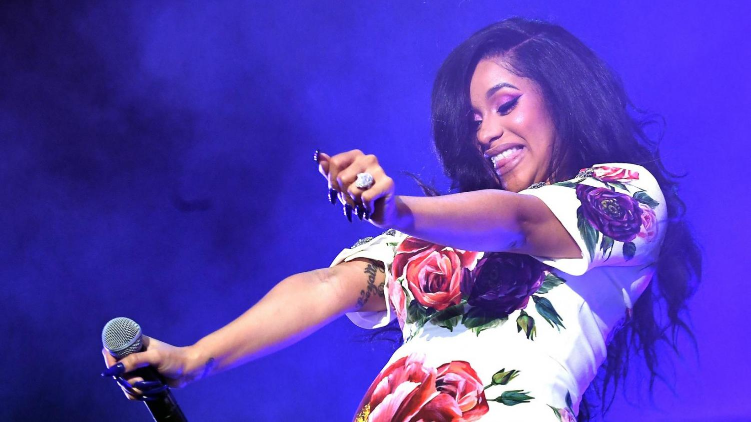 Cardi B rose to the music scene in 2017 with her song