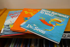 A couple of the famous Dr. Seuss books.