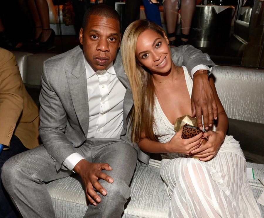 Posing for a photo together, Beyonce and Jay-Z attend a party in New York.
