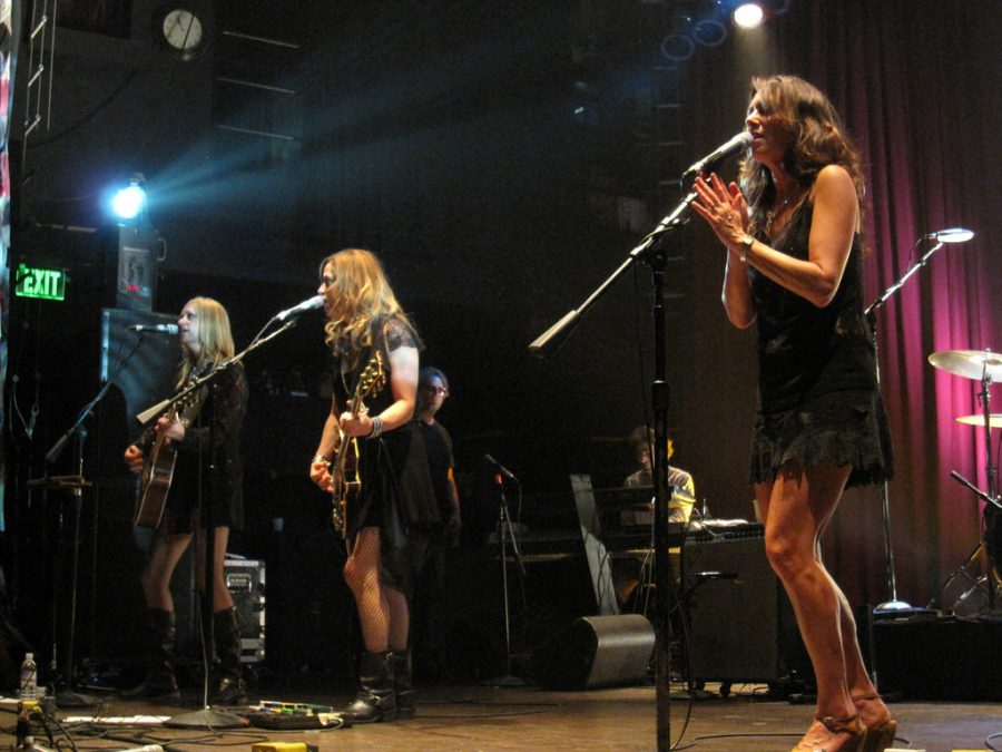 Singing and playing guitar to Eternal Flame, The Bangles perform at The House of Blues.