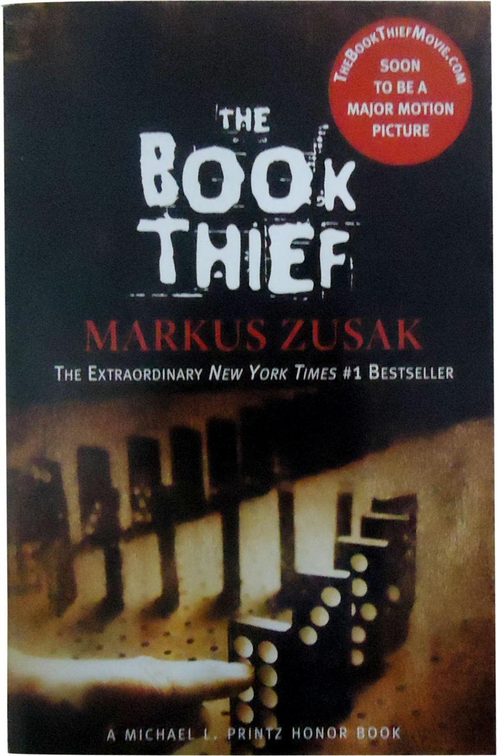 The front cover of the novel, The Book Thief.