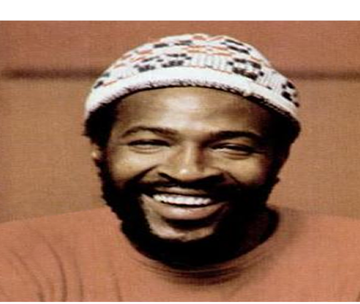 Smiling for his accomplishments, Marvin Gaye, is honored before his passing.