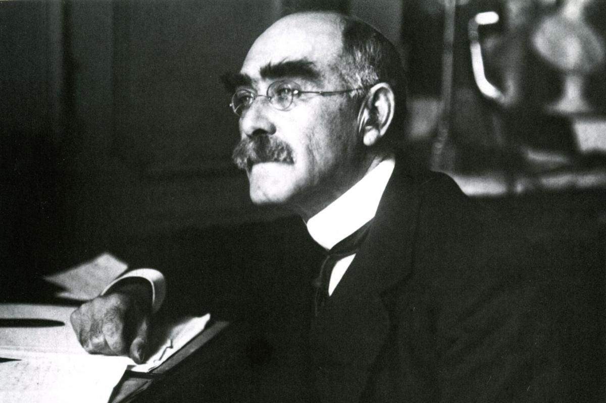 This is a picture of English Writer, Rudyard Kipling.