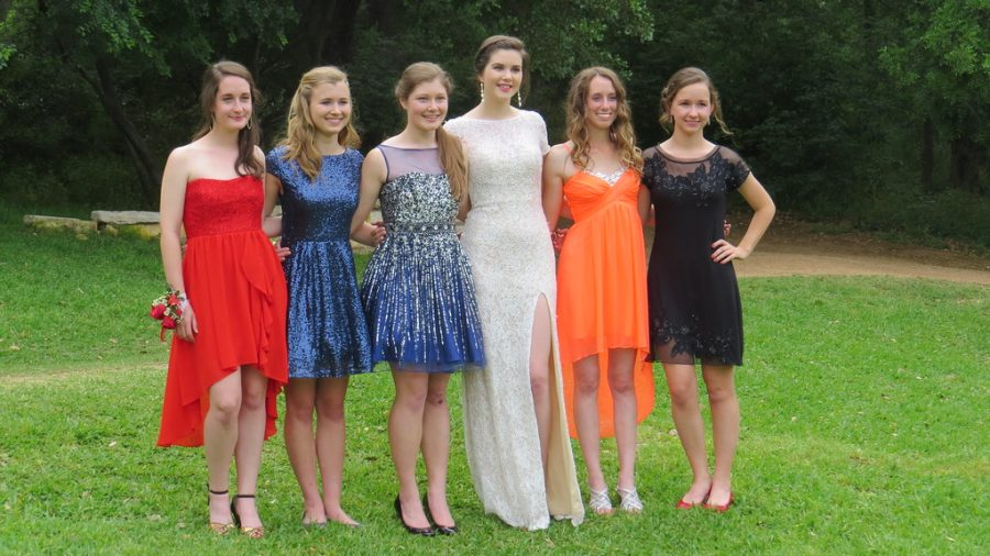 Girls in LA, ready for their Cotillion, or Junior Dance/Ball.