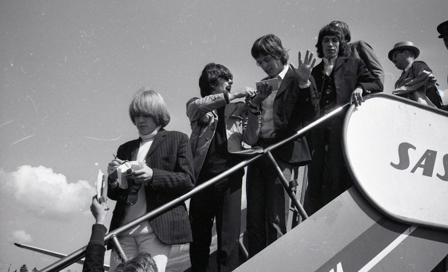 Signing autographs for their fans, The Rolling Stones arrive in Norway.