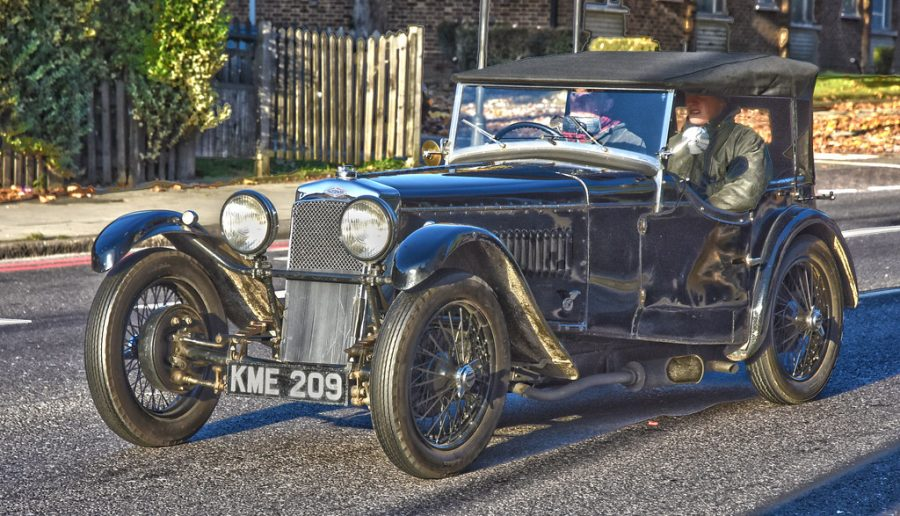 A jalopy is an older-looking car.