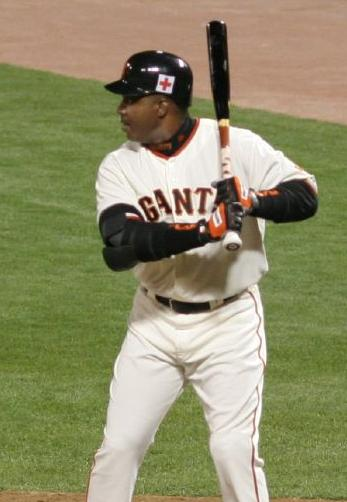 Seen here is MLB legend Barry Bonds, who was able to set a good amount of records throughout his playing career.
